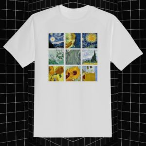 remera van gogh collage